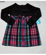 Healthtex Size 4T Red and Black Plaid Holiday Dress NWT - $12.99