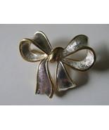 Retro / Vintage Napier Two Toned Bow Pin - 1960s - $12.00