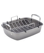 "Roasting Pan New Rack Non-Stick 17 X 13"" Oven Bake Holiday - ₨3,849.75 INR"