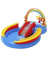 Inflatable Play Center Pool New Ages 2+ Ring Toss Ball Toss Water Slide ... - $67.67