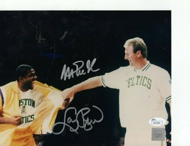 Larry Bird Magic Johnson AUTOGRAPHED SIGNED 8 X 10 PHOTO PICTURE JSA HOL... - £127.83 GBP