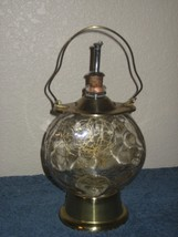 Vintage Music Box Glass Metal Gold Lantern Style Dispenser Bottle Decanter - $23.33
