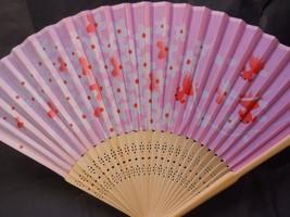 Pink Floral w/ Fish Silk Handheld Fan Folding Fans Asian Hand Fan  #Fan156 - $10.99
