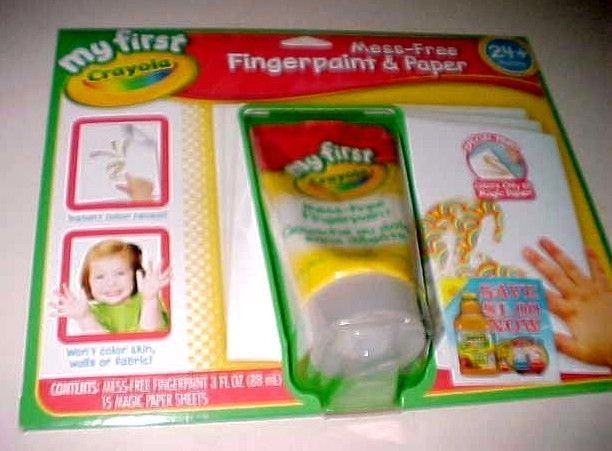 Crayola My First Crayola No Mess Finger-Painting Set New