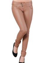 Milbury Leather Pants Brown Colour Mono ectric, Women Wasit Belted Pants - $179.99+