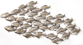 Dipamkar® 90x50cm Shoal of Fish Metal Wall Art Wall Decor Sculpture Home... - $58.37