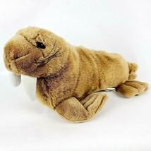 "Wild Republic Walrus 14"" Plush Brown Tusks Whiskers Stuffed Animal K&M I... - $18.13"