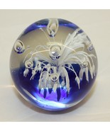 Vintage Glass Paper Weight - Dynasty Gallery Blue and White - $25.73