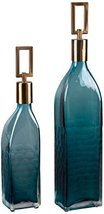 Uttermost 20076 Annabella Glass Bottles, Set of Two, Teal - $294.80