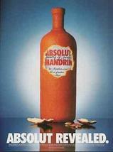 Absolut Mandrin Vodka Ad Revealed Peeled Orange 2000 Ad - $14.99