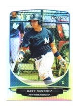 GARY SANCHEZ RC 2013 BOWMAN CHROME ROOKIE REFRACTOR MINI GEM?-NY YANKEES... - $11.87