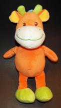 "Bambia Giraffe Plush Lovey 11"" Bean Bag Stuffed Animal Toy Germany Green... - $24.70"