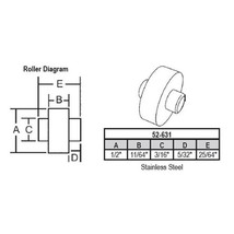 """STB Sliding Window Replacement Roller with Fixed Axle, 1/2"""" Diameter - P... - $6.88"""