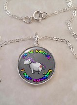 Sterling Silver 925 Pendant Necklace Magical Unicorn Pooping - $30.20+