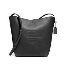 NEW WOMENS COACH (F24556) HUDSON DUFFLE BLACK SMOOTH LEATHER CROSSBODY H... - $170.00