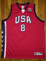 Authentic Reebok 2003 Team USA Olympic Kobe Bryant Alternate Red Jersey 56 - €263,30 EUR