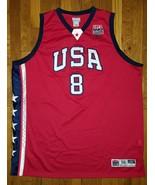 Authentic Reebok 2003 Team USA Olympic Kobe Bryant Alternate Red Jersey 56 - $309.99