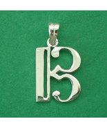 Alto Clef C Music Note Silver Necklace Pendant Charm Chain - $40.00