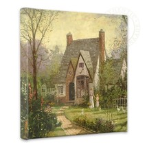 Thomas Kinkade The Cottage 14 x 14 Gallery Wrapped Canvas - Spring Sale - $89.00