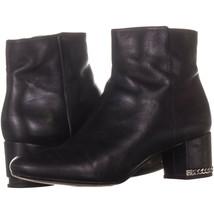 MICHAEL Michael Kors Sabrina Mid Chain Heel Booties 923, Black, 7.5 US - $47.99