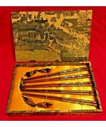 STYLISH FANCY ELEGANT CHOPSTICK SET IN BOX WITH RESTS FROM CHINA - $34.95