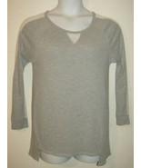 Lavish Maternity Women Sz XL Gray Casual Shirt Top Blouse Long Sheer Sle... - $13.66