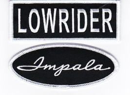 Black White Lowrider Impala 1.5x4 SEW/IRON On Patch Embroidered Chevy - $8.50