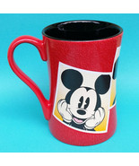 Disney Store Classic Mickey Mouse Large  Mug Cup Red Black Orange Textur... - $25.00