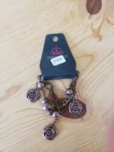 1140 Brown Flower Bracelet (New) - $7.61