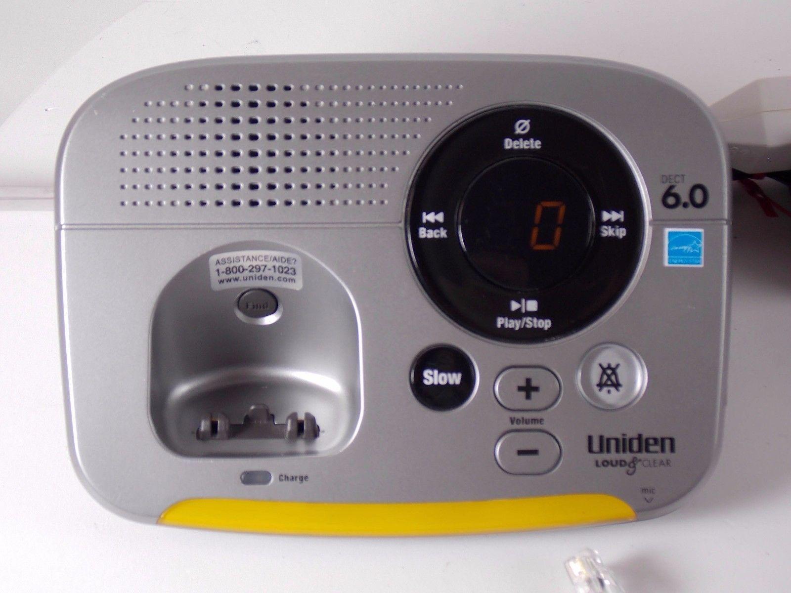 ... Uniden EZAI2997 Loud & Clear 6.0 Single Line Cordless Phone Amplified  Hearing ...