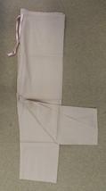 Scrub Pants XL Khaki Tan Unisex Pink Drawstring Medical Uniform Bottoms New - $19.37