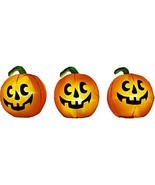 Halloween Inflatable 3 Pc. Monster Mash Musical Pumpkin Pathway Marker W... - £67.62 GBP