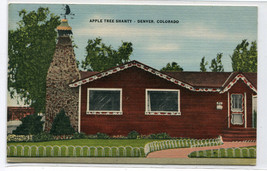 Apple Tree Shanty Restaurant Denver Colorado 1959 linen postcard - $5.89