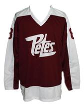Custom Name # Peterborough Petes Retro Hockey Jersey New Maroon Any Size image 4