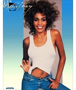 Whitney Houston 1986 Record Store Poster Reproduction Stand-Up Display -... - $15.99