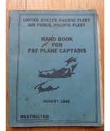 5L/RARE AUG 1945 HANDBOOK FOR PLANE CAPTAINS/SMALL/AIR FORCE/F8F/PACIFIC... - $98.95