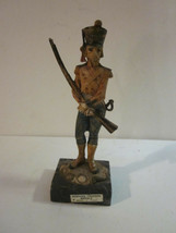 VINTAGE ITALIAN MADE NAPOLEONIC STYLE MUSKET RUBBER SOLDIER CARRARA MARB... - $9.99