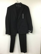 Kenneth Cole New York Notch Lapel Extreme Black 2-Piece Suit 42S/36W NWT - $82.24