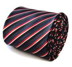 Marineblau schwarz & Rotes gestreift Herren Stangentanz Krawatte von - $24.38