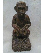 Monkey Ape Primate Bookend Set Carved Handmade Design Home Library Shelf... - $49.49
