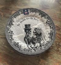 ROYAL WESSEX HALLOWEEN TILL DEATH DO US PART Dinner Plates set Of 2 New - $34.99