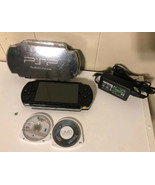 Sony PSP 1001 Black Handheld System Console +2 Games +Case + Memory Stic... - $79.19