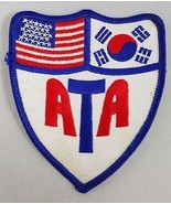 Vintage Martial Arts Patch ATA  American Taekwondo Association Tae Kwon Do - $7.95