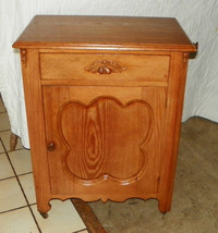 Mid 1800's Chestnut Washstand Cabinet with Towel Rack - $599.00