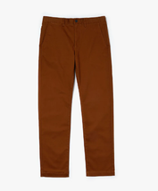 LACOSTE Men's Regular Fit Stretch Cotton Chinos Brown • F8X Size 34X32 - $49.49