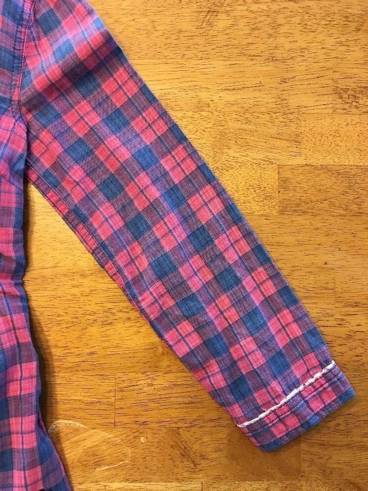 Abercrombie Kids Girl's Blue & Pink Plaid V-Neck Dress Shirt - Medium image 8