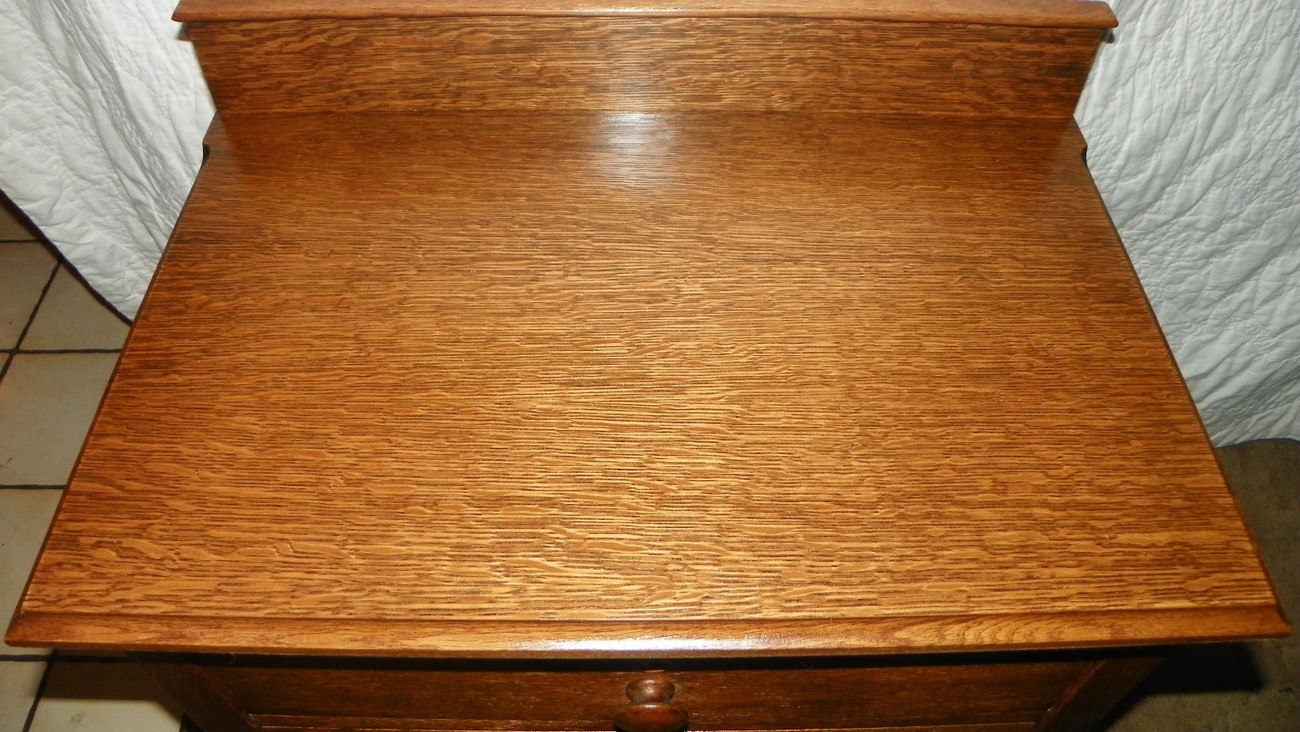 Quartersawn Oak 2 Drawer Work Table Entry Table