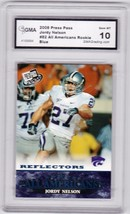 2008 Press Pass All Americans Reflectors Blue Jordy Nelson Graded GMA 10 Packers - $5.74