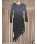 Size M L Medium Large Womens Gradient Gray Winter Long Sleeve Knit Women... - $25.50