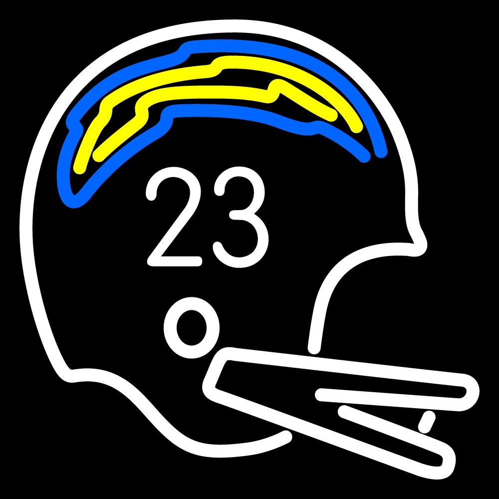 Nfl San Diego Chargers Helmet Logo Neon Sign Neon